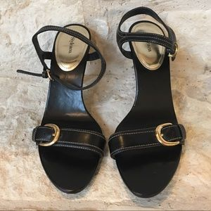 NEW Black Style & Co Strappy Sandal Heels 7.5